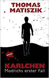 Buchcover: Der Schatten eines Mannes mit einem blutigen Messer